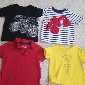 2t 4pc Truck shirt bundle